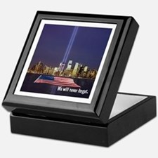 9/11 Tribute - Never Forget Keepsake Box