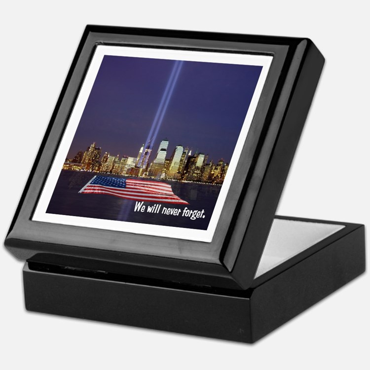 9/11 Tribute - Never Forget Keepsake Box