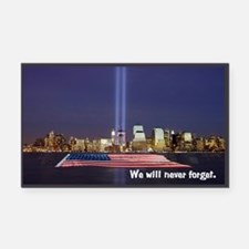 9/11 Tribute - Never Forget Rectangle Car Magnet
