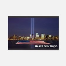 9/11 Tribute - Never Forget Rectangle Magnet