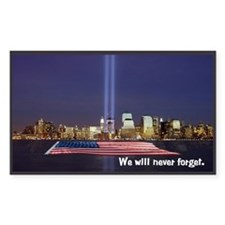 9/11 Tribute - Never Forget Decal