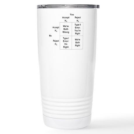 Type I and II Errors Stainless Steel Travel Mug