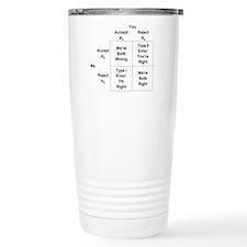 Type I and II Errors Travel Coffee Mug