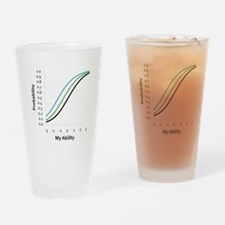 Logistic Curves Drinking Glass