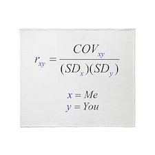 Correlation Formula Throw Blanket