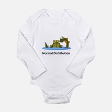 Normal Distribution Long Sleeve Infant Bodysuit