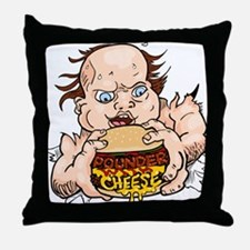 Hungry Sweaty Baby Throw Pillow
