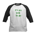 IT'S ALL GEEK TO ME Kids Baseball Jersey