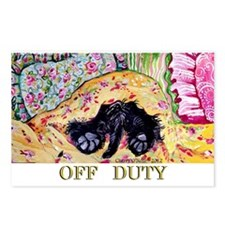 Off Duty Scottish Terrier Postcards (Package of 8)