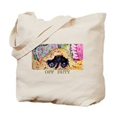 Off Duty Scottish Terrier Tote Bag