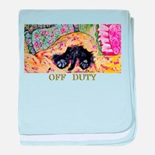 Off Duty Scottish Terrier baby blanket