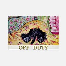 Off Duty Scottish Terrier Rectangle Magnet
