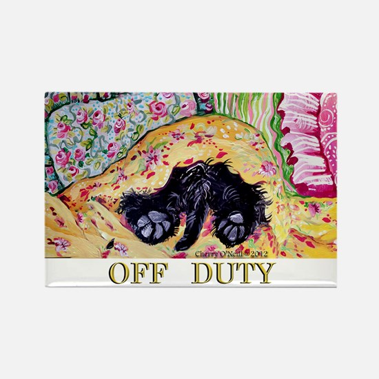 Off Duty Scottish Terrier Rectangle Magnet