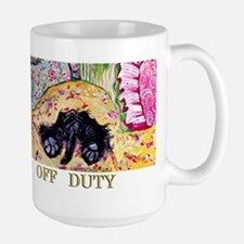 Off Duty Scottish Terrier Large Mug