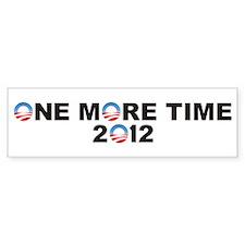 Pro Obama bumper sticker 2012 ONE MORE TIME!