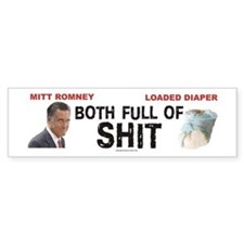 Anti Mitt Romney bumper sticker Full Of SHIT