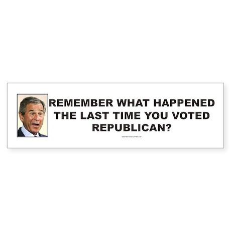 Anti Mitt Romney bumper sticker - REMEMBER!