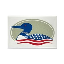 Proud Loon Oval: Rectangle Magnet (100 pack)