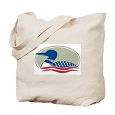 Proud Loon Oval: Tote Bag