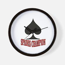 red spades champion Wall Clock