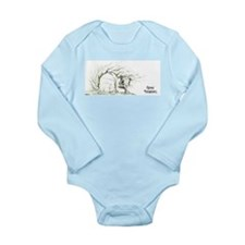 Gray Squirrel 13x6.png Long Sleeve Infant Bodysuit