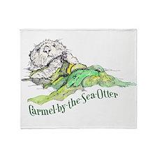 Carmel by the Sea Otter Throw Blanket
