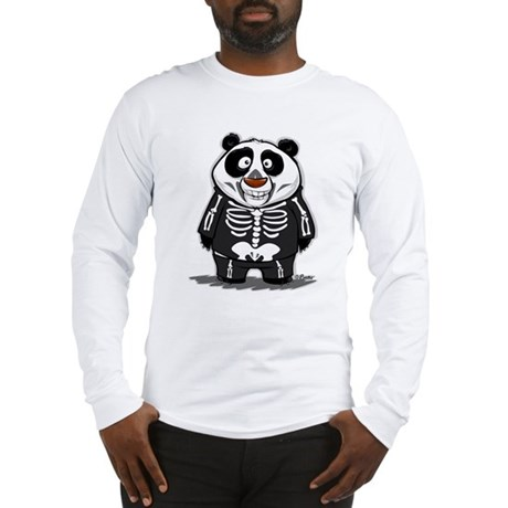 Panda Skeleton Long Sleeve T-Shirt