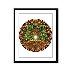 Sacred Celtic Trees - Oak Framed Panel Print