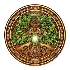 Sacred Celtic Trees - Oak Round Car Magnet
