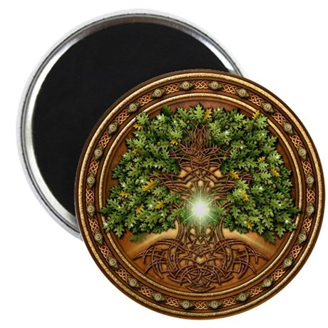 "Sacred Celtic Trees - Oak 2.25"" Magnet (10 pack)"