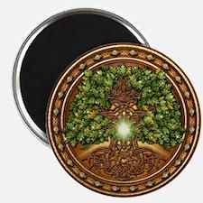 "Sacred Celtic Trees - Oak 2.25"" Magnet (10 pack)"