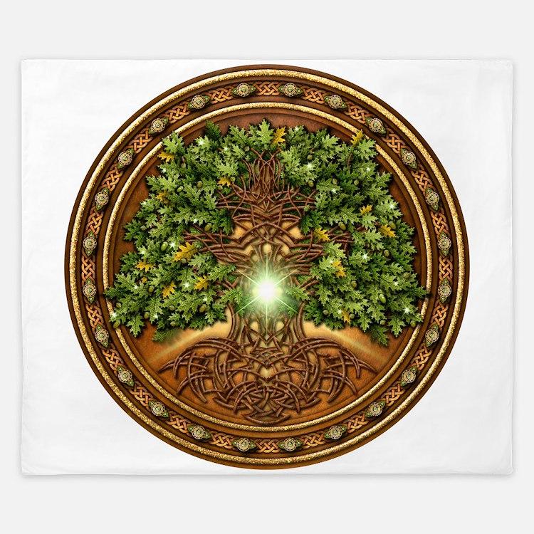 Sacred Celtic Trees - Oak King Duvet