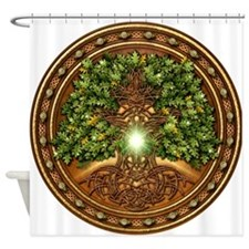 Sacred Celtic Trees - Oak Shower Curtain
