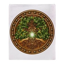 Sacred Celtic Trees - Oak Throw Blanket