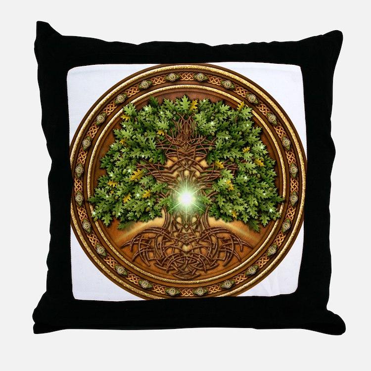 Sacred Celtic Trees - Oak Throw Pillow