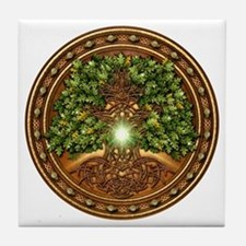 Sacred Celtic Trees - Oak Tile Coaster