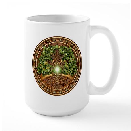 Sacred Celtic Trees - Oak Large Mug