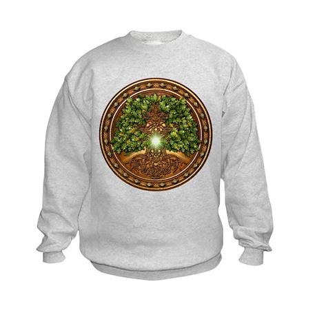 Sacred Celtic Trees - Oak Kids Sweatshirt