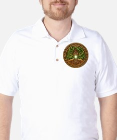Sacred Celtic Trees - Oak Golf Shirt