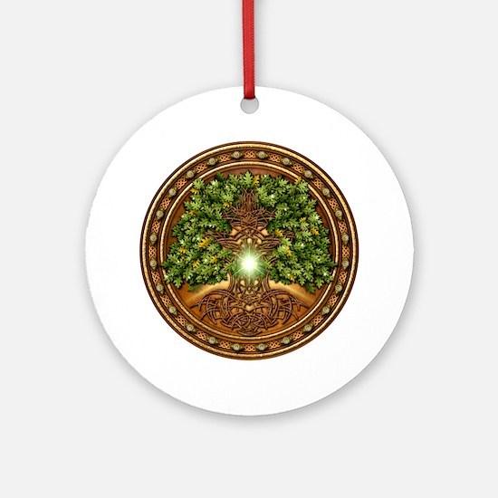 Sacred Celtic Trees - Oak Ornament (Round)