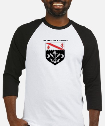 DUI - 1st Engineer Battalion with Text Baseball Je