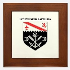 DUI - 1st Engineer Battalion with Text Framed Tile
