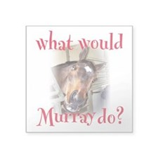 "What Would Murray Do Square Sticker 3"" x 3&qu"