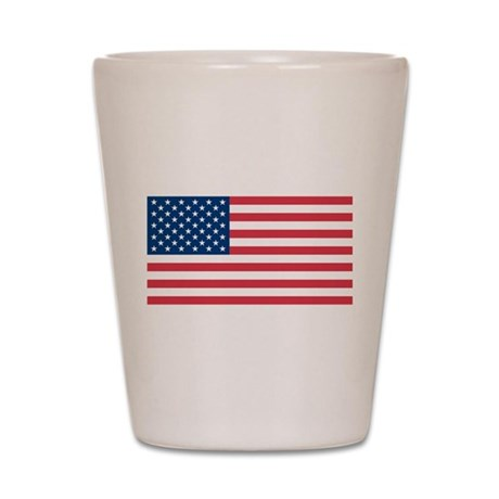 American Flag Shot Glass by GraphicDream