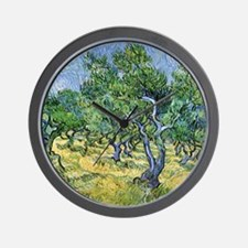 Van Gogh Olive Grove Wall Clock