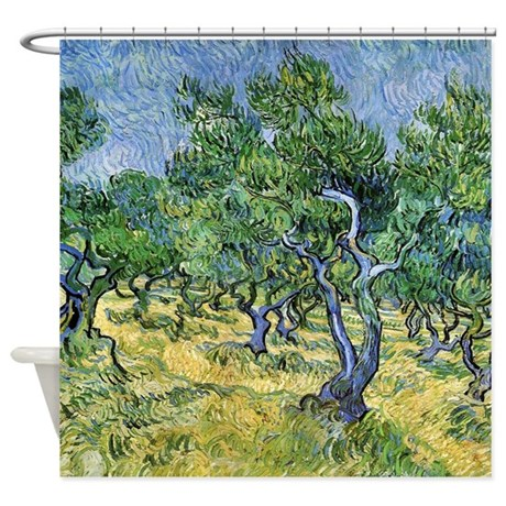 Van Gogh Olive Grove Shower Curtain