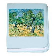 Van Gogh Olive Grove baby blanket