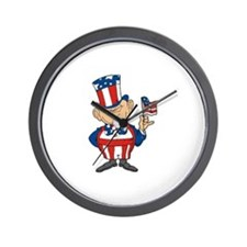 American Flag Wall Clock