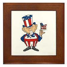 American Flag Framed Tile