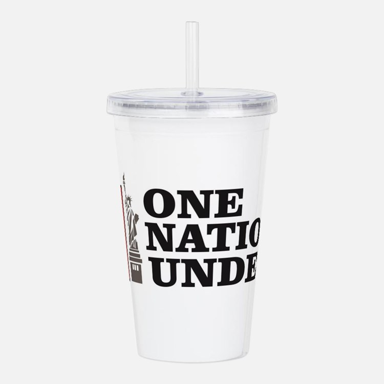 one nation under god l Acrylic Double-wall Tumbler